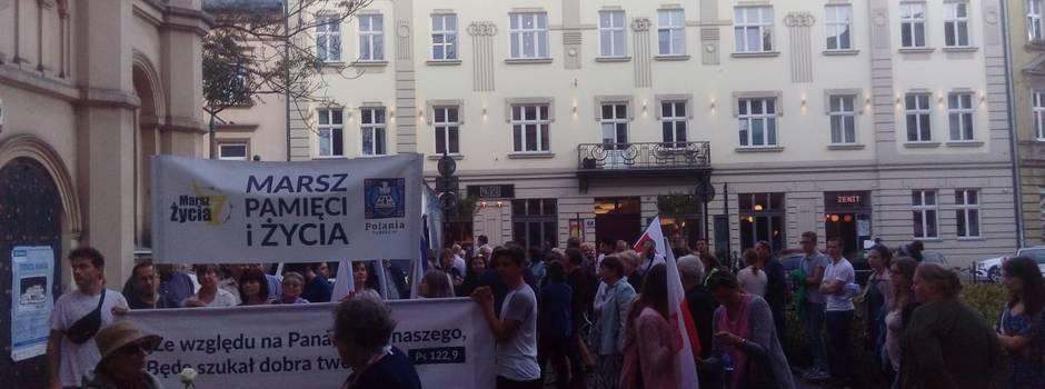 Dritter Marsch des Lebens in Krakau ehrte jüdisches Leben