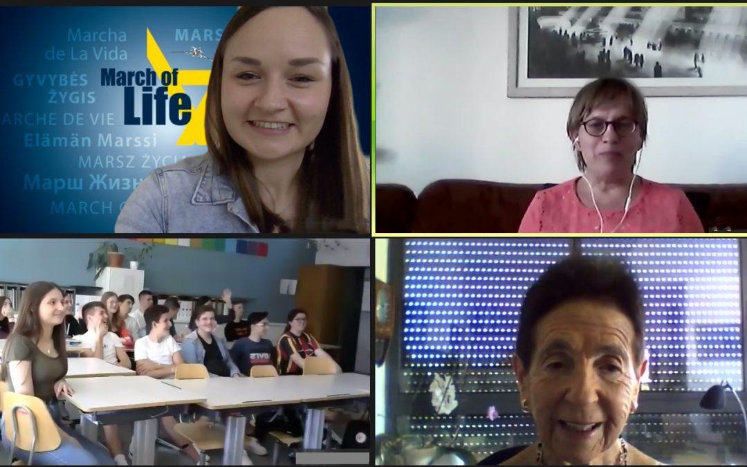 Zoom-Treffen mit Holocaustüberlebenden und Schülern