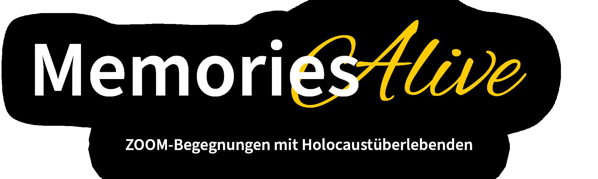 Memories Alive ZOOM-Begegnungen mit Holocaustüberlebenden