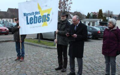 Der Marsch des Lebens in Ueckermünde – In diesem Jahr etwas anders